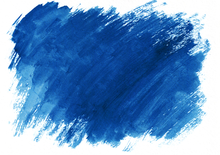 Dark blue horizontal watercolor gradient hand drawn background. Its useful for graphic design, backdrops, prints, wallpaper and etc