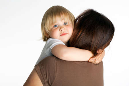 small hugging mum young girl  Stock Photo - 4938129