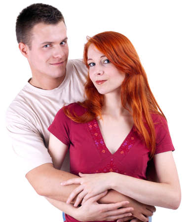 young loving people woman and man hugging each other Stock Photo - 7865205