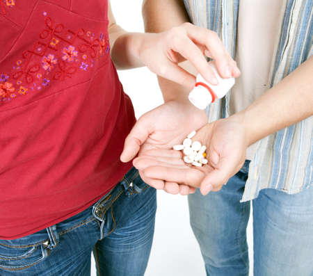 young couple woman and man with drugs Stock Photo - 7865630