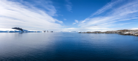 merged: Antarctica Outstanding Natural Beauty, Paradise Bay Peninsula  Panorama from two picture merged Photo; december 27 2011