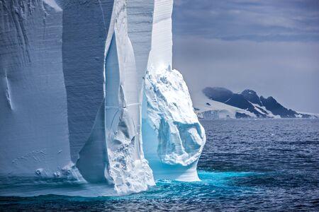 antarctic peninsula: Close-up of a Huge antarctic iceberg on the antarctic peninsula.  Taken in the Trinity Peninsula, december 27 2011. Stock Photo