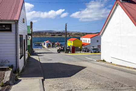 port stanley: Port Stanley, Falkland Islands  Down town, near the dock  Editorial