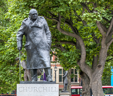 churchill: London Churchill Statue Stock Photo