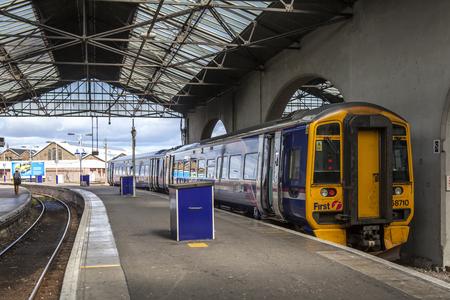 Inverness, Scotland, UK - September 2012; Inverness railroad station, Scotland taken september 2, 2012 Editorial