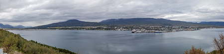 Panoramic Landscape of the city of Akureyri in Iceland