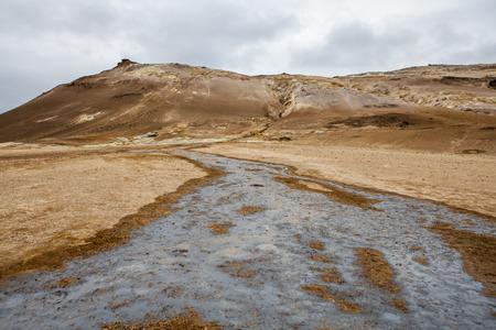 Geothermal landscape in Iceland, Site Hveryr, Lake Myvatn