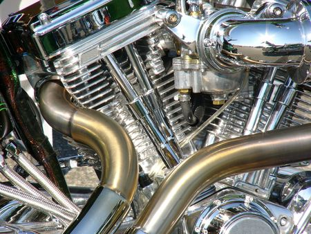 motorcycle engine close-up Stock Photo - 256868