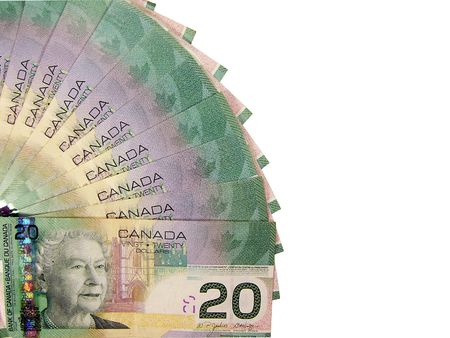 canadian currency: canadian dollars Stock Photo