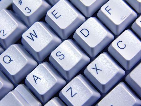 keyboard: blue Keyboard Stock Photo
