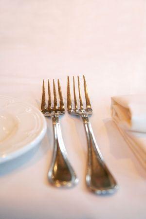 bar ware: fork, knife and napkin