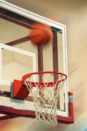 flying basketball photo