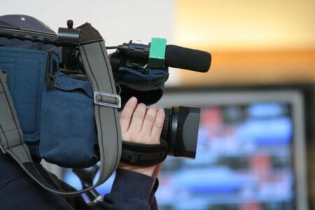 pressman: cameraman and newscast