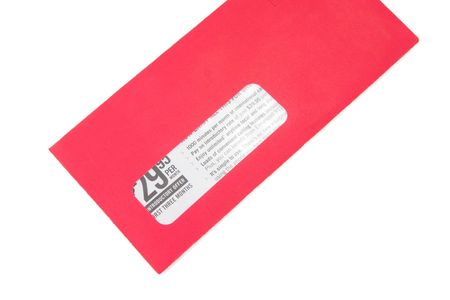 red advertising envelope Stock Photo - 402227