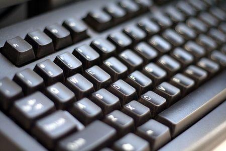keyboard: black keyboard