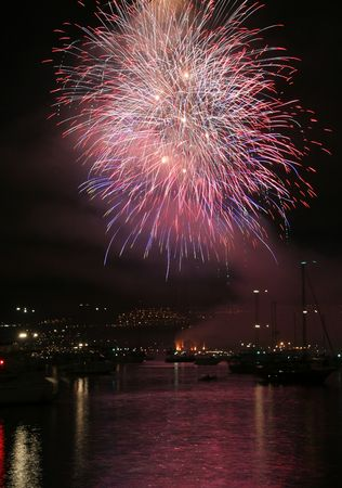 firework in vancouver photo