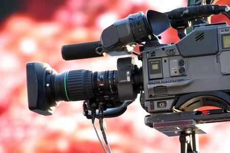 video camera for news tv broadcasting