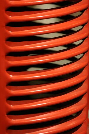 grille: old red tractor grille close up Stock Photo