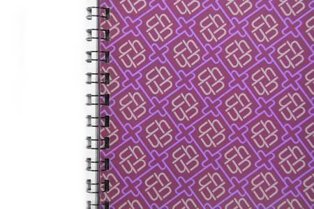 spiral notebook: artwork brochure, concept of learning art and design