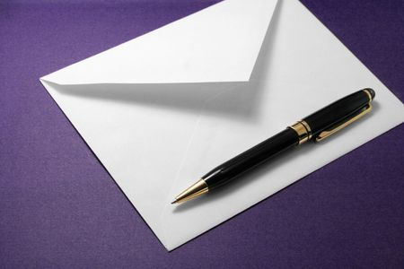 envelope and pen, concept of communication