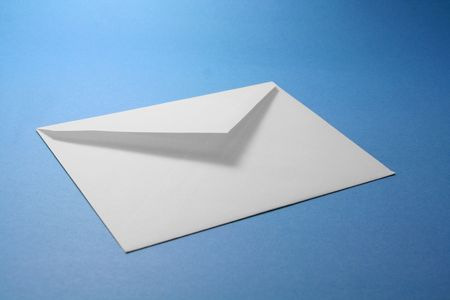 white envelope, concept of communication