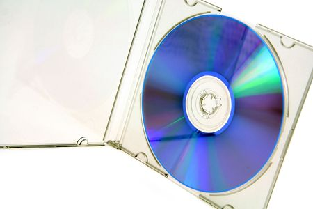 open cd case with blank cd Stock Photo