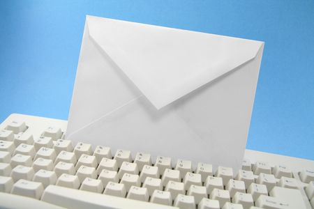envelope and keyboard, concept of email