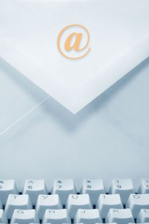 envelope and keyboard, concept of email Stock Photo - 568962
