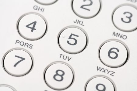 7 8: Dial phone keyboard close up Stock Photo