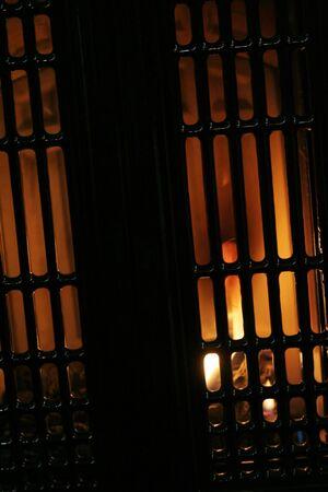 fireplace grill, concept of horror Reklamní fotografie