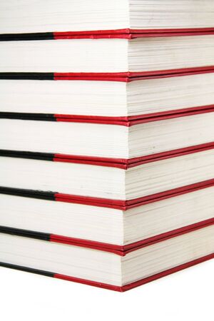 books (encyclopedia) with white background, concept of education 版權商用圖片
