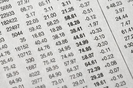 data: stock data on newspaper for backgorund