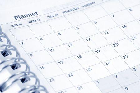 close up opened agenda photo