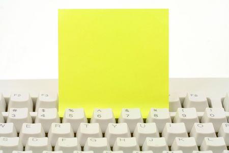 notepaper and keyboard, concept of communication Reklamní fotografie - 627171