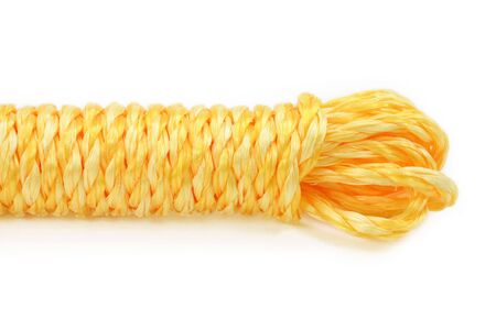 yellow rope with white background