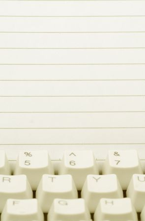 notepaper and keyboard, concept of communication