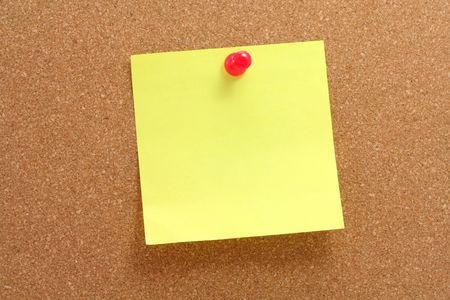 corkboard, notepaper and pushpin Stock Photo - 627130