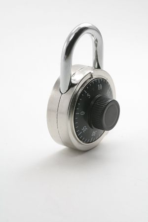 combination: a combination lock with a gray background