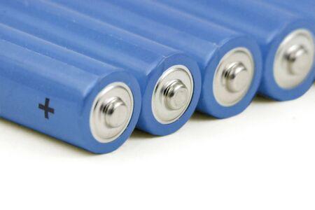 macro shot of  blue batteries Stock fotó
