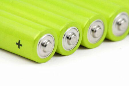 macro shot of  green batteries Stock fotó