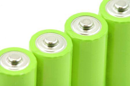 緑色の電池のマクロショット 写真素材