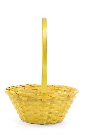 yellow basket with white background Stok Fotoğraf