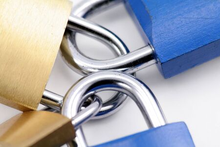 locked: locked locks, concept of business problem Stock Photo