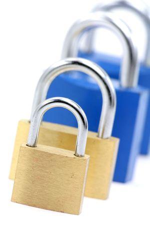 locked locks, concept of business problem Banco de Imagens