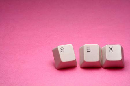 letter keys close up, concept of online porn Stock Photo - 667786