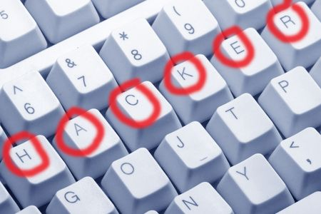 letter keys close up, concept of hacker Stock Photo - 667784