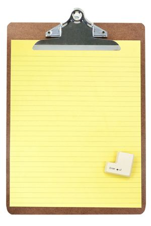 blank paper and enter key, concept of email