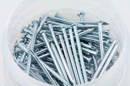 iron nails close up
