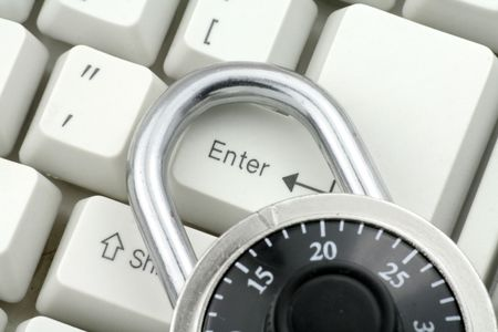 locking the enter key, concept of computer safety