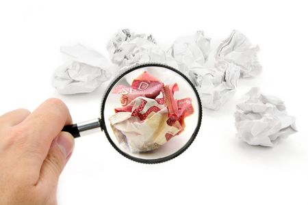 crumpled canadian dollar ball, business concept photo